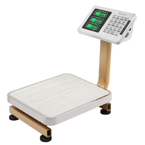 "176bs Wireless LCD Display Personal Floor Postal Platform Scale Gold - 7'6"" x 9'6"""