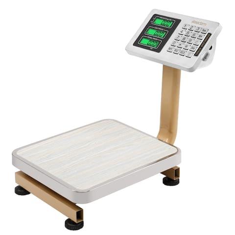 "176bs Wireless LCD Display Personal Floor Postal Platform Scale Gold - 7'6"" x 9'6"""