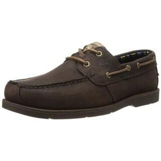 Timberland Mens Kiawah Bay Leather Moc-Toe Boat Shoes