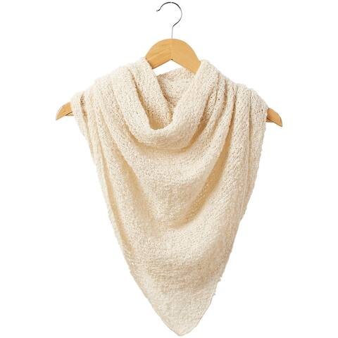5.5' Solid White Stylish and Fashionable Tickled Pink Fall Cowboy Scarf