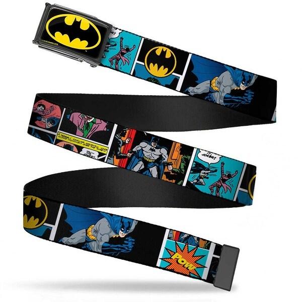 Batman Fcg Black Yellow Black Frame Batman Comic Strip W Bat Signal Web Belt