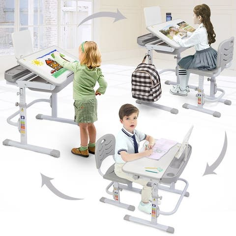 70CM Lifting Table Can Tilt Children Learning Table And Chair