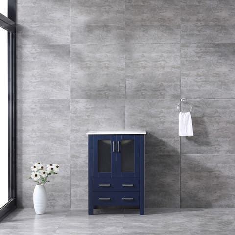 Lexora Volez 24 inch single Bathroom Vanity Countertop With Sink