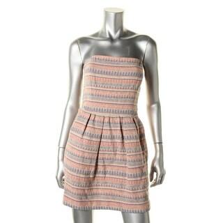 Rachel Roy Womens Pattern Cut-Out Party Dress - 4