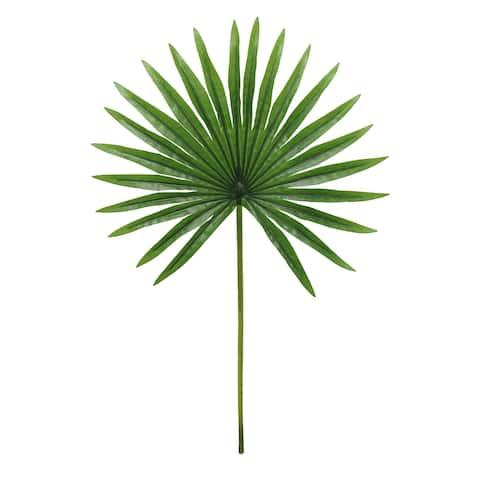 "Set of 3 Tropical Fan Palm Leaf Stem 20in - 20"" L x 12"" W x 0.5"" DP"