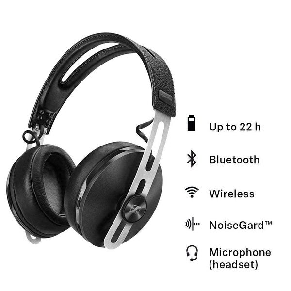 427cb04d6d5 Shop Sennheiser HD1 Wireless Headphones with Active Noise Cancellation -  Black - Free Shipping Today - Overstock - 26482303