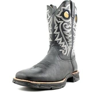 Durango Lady Ramped Up Rebel Women Square Toe Leather Black Western Boot