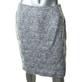 Calvin Klein Womens Linen Blend Flat Front Pencil Skirt - 6