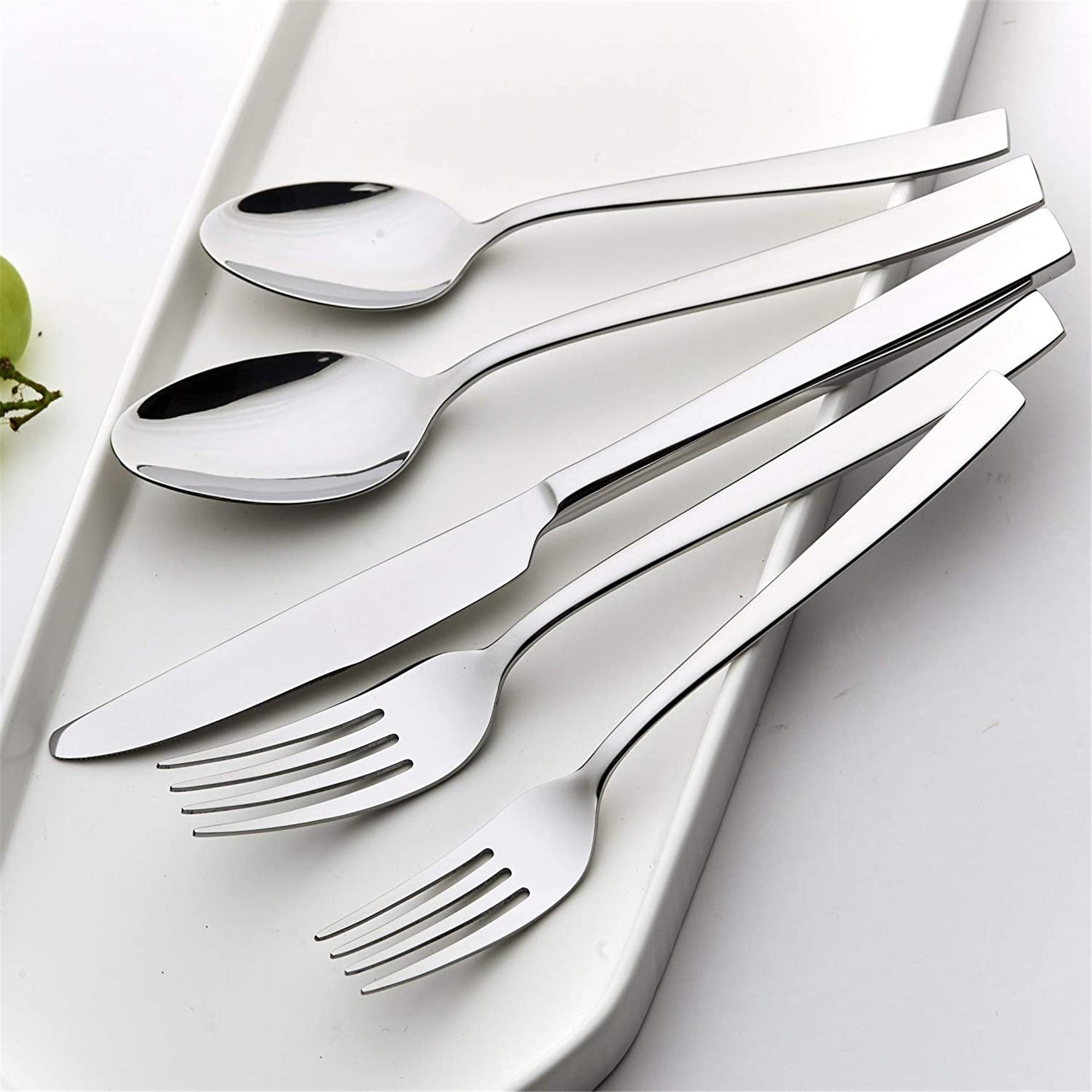 Details about  /Matte Black Silverware Set 20-Piece Stainless Steel Flatware Tableware Cutler...