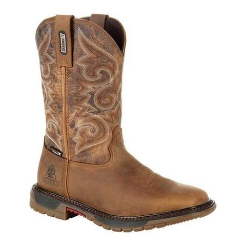 Rocky Women's Original Ride FLX Waterproof Western Boot RKW0298 Golden Rod Full Grain Leather