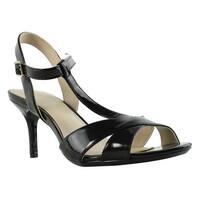 Calvin Klein Womens Laycie Black Open Toe Heels Size 8.5