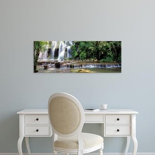 Easy Art Prints Panoramic Images's 'Waterfall in a forest, Cuisance Waterfall, Jura, Franche