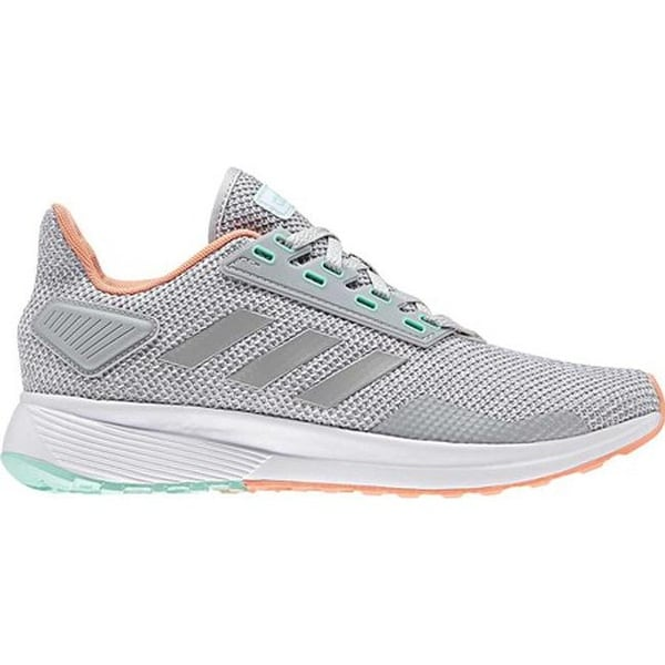 3f94322567a45 Shop adidas Women's Duramo 9 Running Shoe Grey Two/Grey Two/Chalk Coral -  Free Shipping On Orders Over $45 - Overstock - 25433754