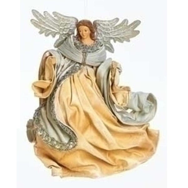 "7.75"" Have Faith Ornate Silver Flying Angel Christmas Ornament"