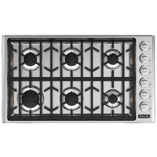 Viking VGSU5366B 36 Inch Wide Built-In Natural Gas Cooktop with Permanently Sealed Burners