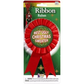 Best Ugly Christmas Sweater Costume Award Ribbon|https://ak1.ostkcdn.com/images/products/is/images/direct/a8493d11d672d120f265f03eba0f64debefa1cff/Best-Ugly-Christmas-Sweater-Costume-Award-Ribbon.jpg?impolicy=medium