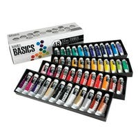 Liquitex BASICS Acrylic Paint Set, 0.74 Ounce Tubes, Assorted Colors, Set of 48