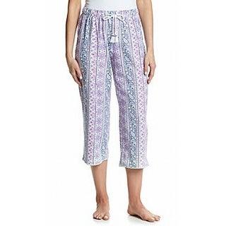 Karen Neburger NEW Purple Women's Size Medium M Floral Lounge Pants