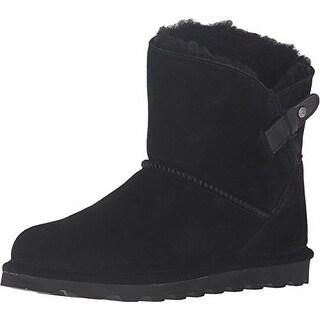 BEARPAW Women's Margaery Fashion Boot, Black II, 5 M US