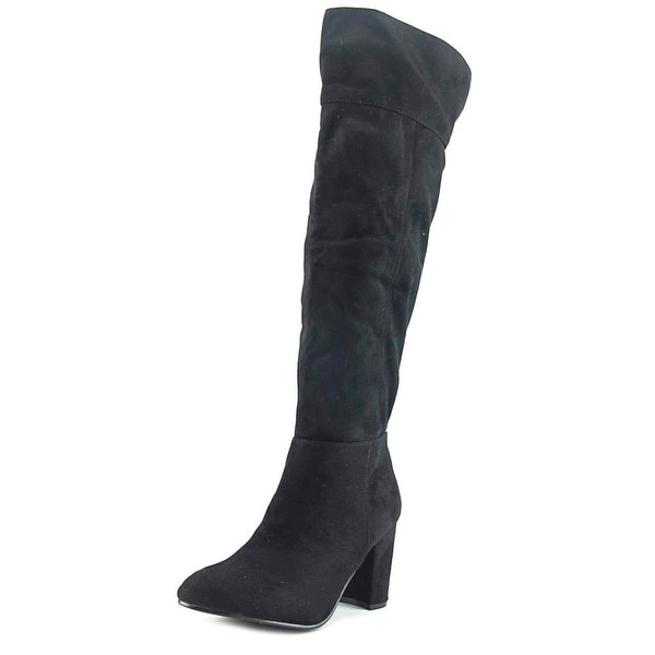Diba Danica Boots Women Round Toe Synthetic Black Knee High Boot