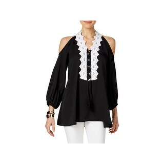 Love Scarlett Womens Casual Top Cold Shoulder Long Sleeves