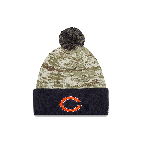 6e121bd6 Shop New Era Chicago Bears Salute to Service Sport Knit Hat - Free ...