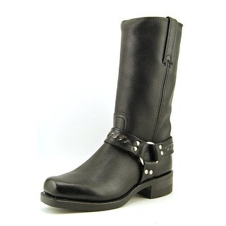 Frye 12R Chain Harness Men Square Toe Leather Mid Calf Boot