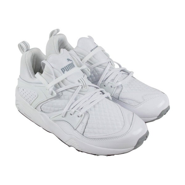 Puma Blaze Of Glory X Mens White Leather Athletic Lace Up Running Shoes