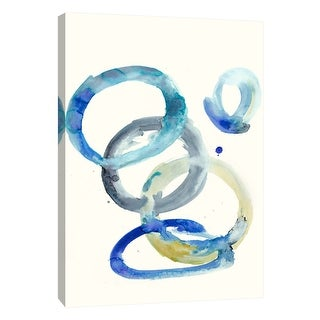 "PTM Images 9-105531  PTM Canvas Collection 10"" x 8"" - ""Watercolor Oval 4"" Giclee Abstract Art Print on Canvas"