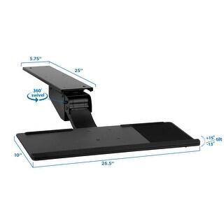 Mount-It! Adjustable Under Desk Keyboard and Mouse Drawer Platform With Ergonomic Wrist Rest Pad - MI-7139