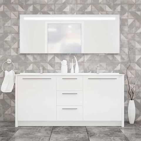 """Nona 71"""" Double Sink Freestanding Bathroom Vanity Set"""