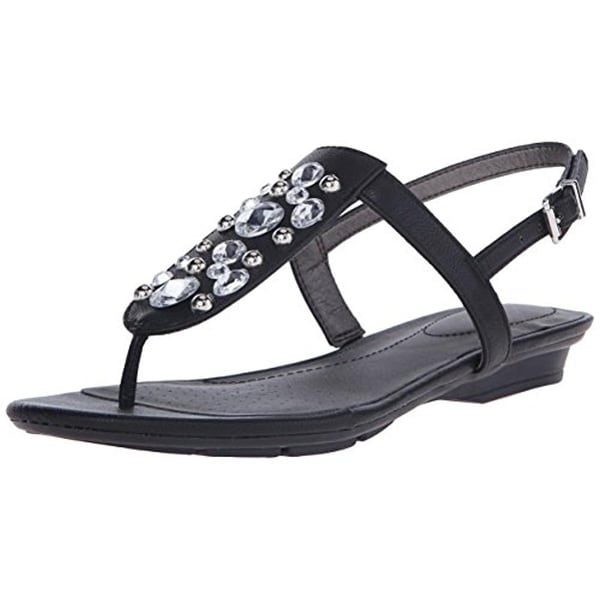 LifeStride Womens Envy Slingback Sandals Faux Leather Embellished