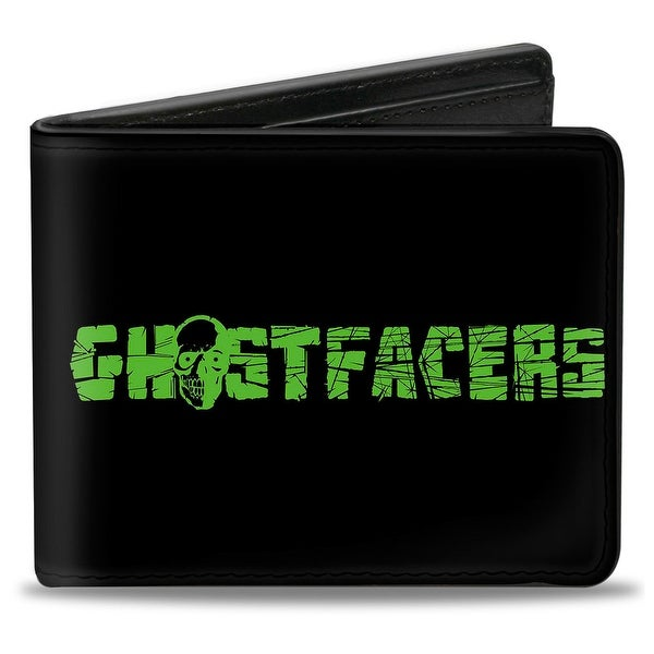 Ghostfacers Logo Black Green Bi Fold Wallet - One Size Fits most