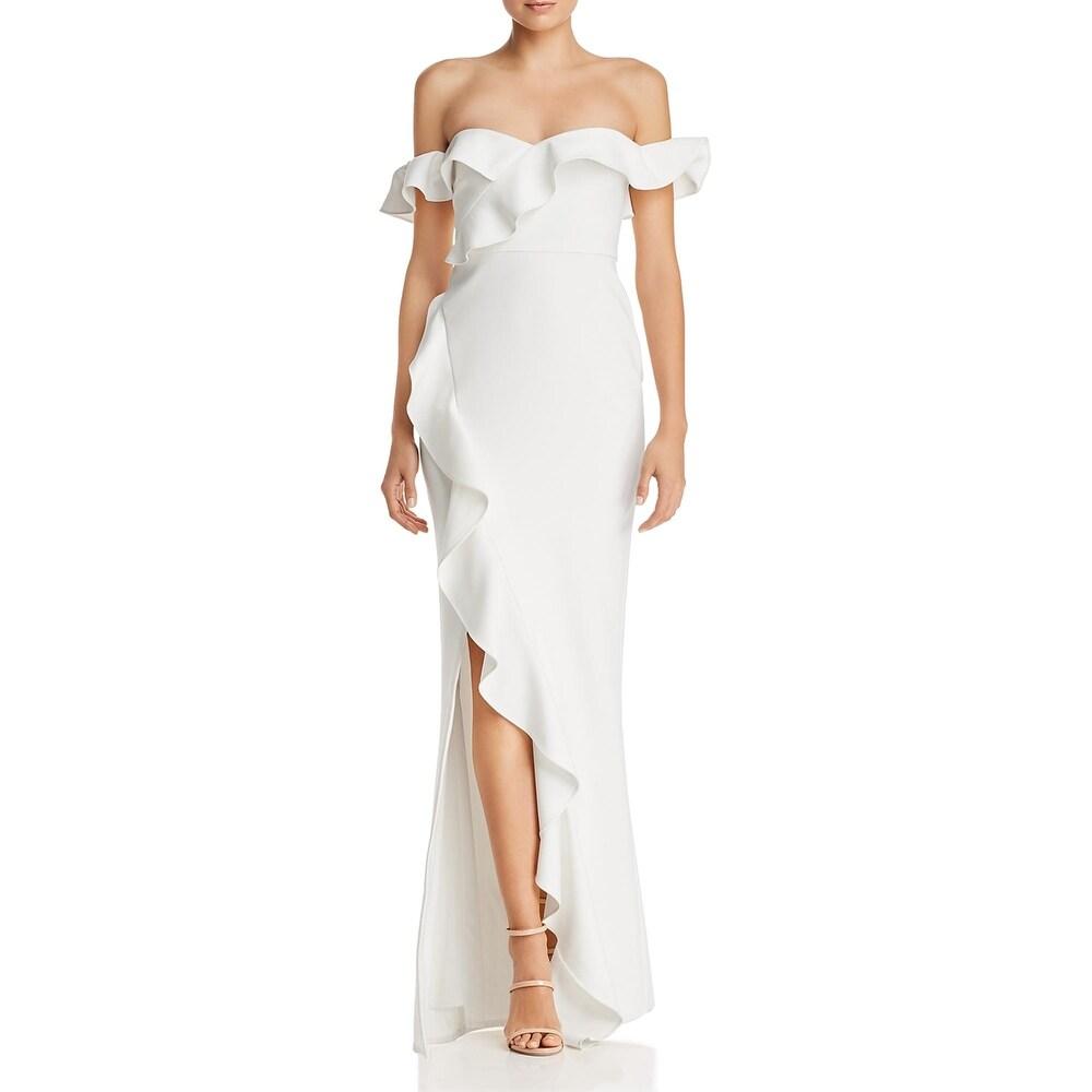 Likely Womens Miller Formal Dress Ruffled] Polyester - White