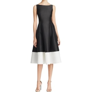 Adrianna Papell Womens Special Occasion Dress Satin Colorblock