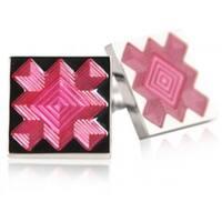 Pink Starburst Cufflinks