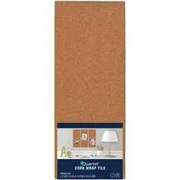 "Brown; Modular - Quartet Cork Bulletin Board Tile 5.5""X14"""