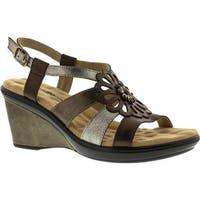 Walking Cradles Women's Lindsey Wedge Sandal Metallic Multi Leather