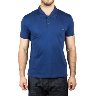 Prada Men's Jersey Sport Pima Cotton Slim Fit Polo Shirt Indigo Blue - L