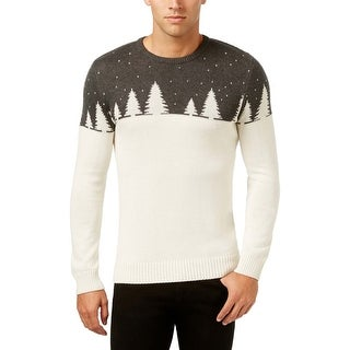 Celebrate Shop Mens Charcoal and Ivory Christmas Sweater Small S