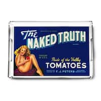 The Naked Truth Tomato - Vintage Label (Acrylic Serving Tray)