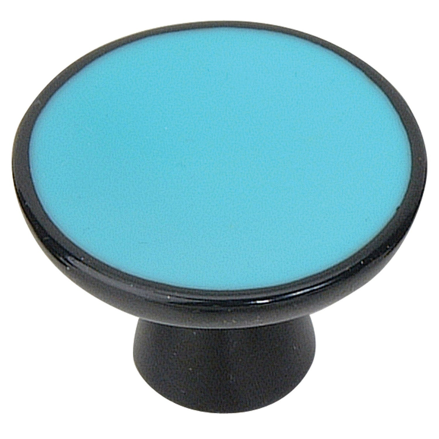 Atlas Homewares 3132  Indochine 2 Diameter Mushroom Cabinet Knob (Blue)