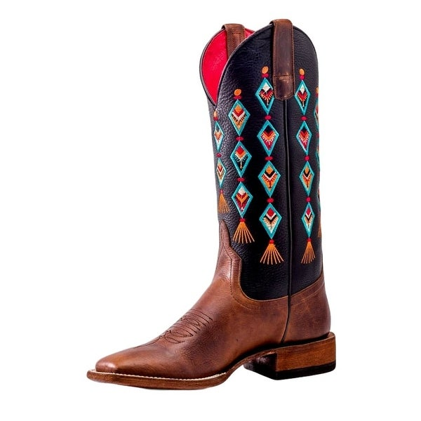 Macie Bean Western Boots Womens Black Top Aztec Moka Sabotage