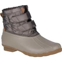 Sperry Top-Sider Women's Saltwater Jetty Snow Boot Off White Textile