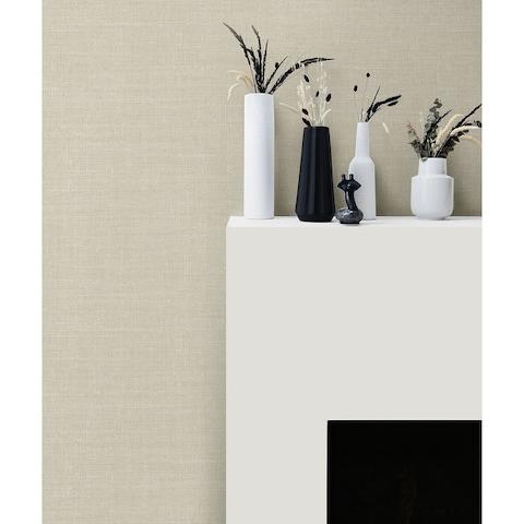 Seabrook Designs Hopsack Embossed Vinyl Unpasted Wallpaper