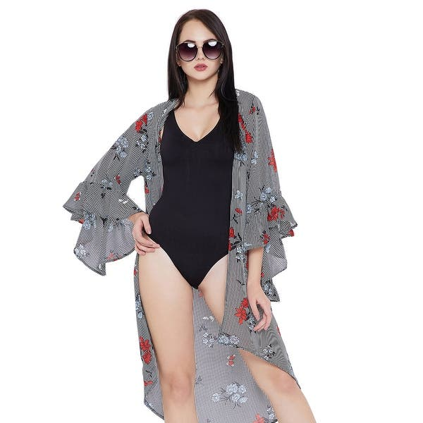 Shop Black Beach Cover Up For Women Swimsuit Floral Summer Bikini Cover Ups For Women Plus Size Bathing Suit Online Overstock 23028207