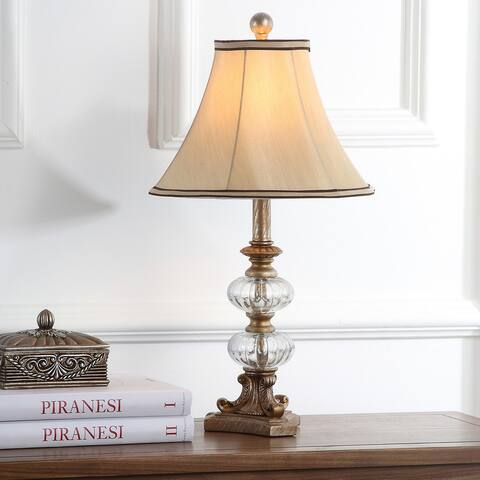 "Safavieh Lighting 24-inch Princeton Glass Silky Table Lamp (Set of 2) - 12""x12""x22.5"""