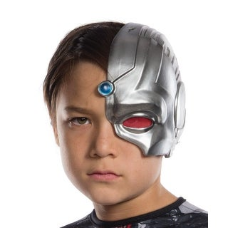 Justice League Movie Cyborg Child Costume Half-Mask - Silver