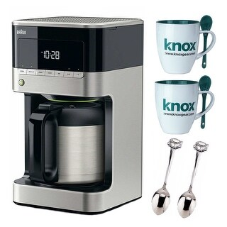 BrewSense 10-Cup Drip Coffee Maker with Thermal Carafe (Black) and Accessory Kit