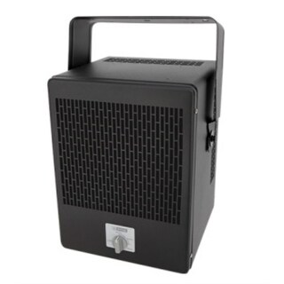 King EKB2450TB 5000W 240V Economy Unit Heater w/ Stat and Bracket - Black